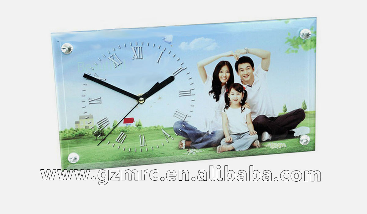 blank sublimation glass clock